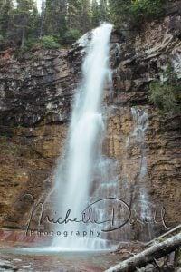 Virginia Falls, Glacier National Park, Montana. 72 dpi, 300 dpi, 600 dpi