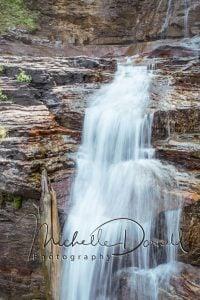A cascade in lower Virginia Falls, Glacier National Park, Montana. 72 dpi, 300 dpi, 600 dpi