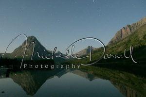 Reflection and stars at Two Medicine Lake, Glacier National Park, Montana. 72 dpi, 300 dpi, 600 dpi