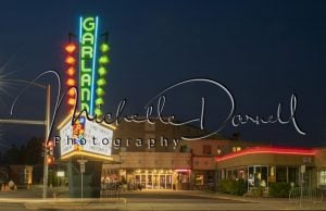 The Garland theater at night, Spokane, WA 72 dpi, 300 dpi, 600 dpi